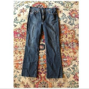 LUCKY BRAND Blue Washed Jeans Classic Dungarees 30